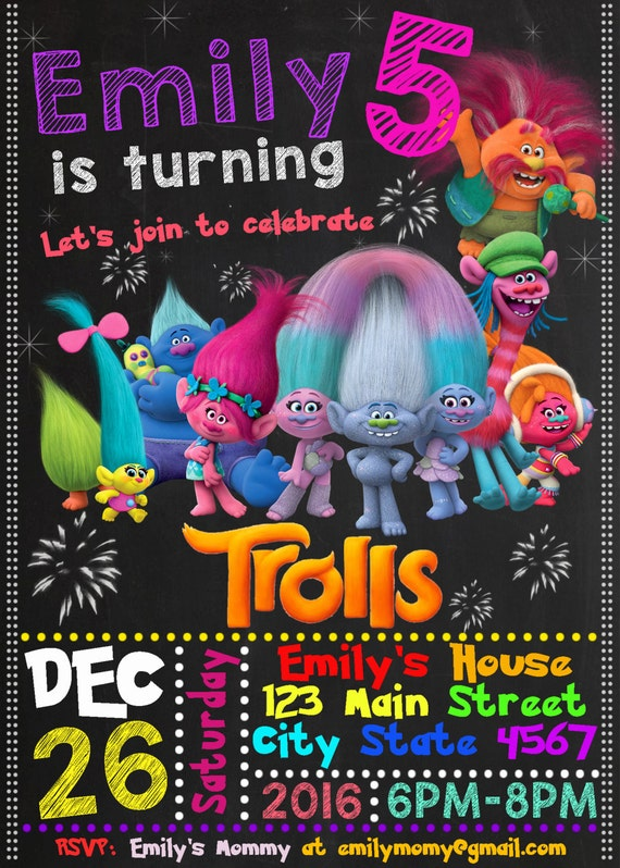 The biggest and best dreamworks trolls birthday party for Third party wall notice