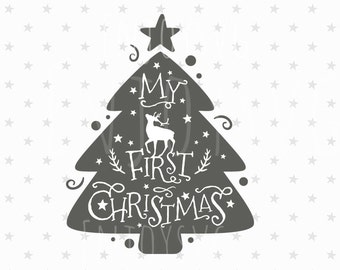 My first Christmas SVG Christmas Baby Svg file First Christmas SVG file Baby Christmas svg File Silhouette CAMEO Cricut svg Winter Svg files