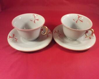 Royal Epiag Czechoslovakia Tea Cups and Saucers - Rare Gray