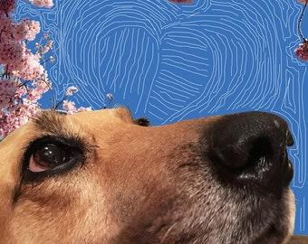 Dog Love Art Print, Dogs, Office Art, Living Room Art, Photography
