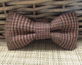 Brown Tweed Dog Bow Tie