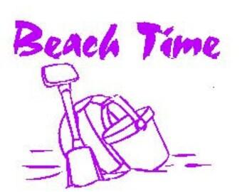 Beach Time Decal
