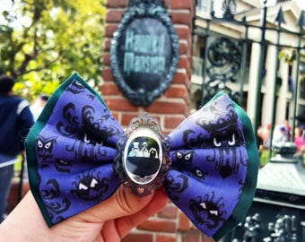 Haunted Mansion Doom Buggy Inspired Bow