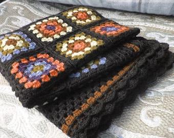 Crochet afghan,blanket, crochet,soft wool plaid
