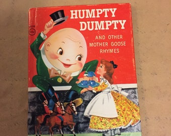 1960's Humpty Dumpty Mother Goose Kids Book