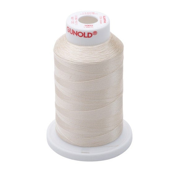 1082 Ecru Gunold Thread - 40 WT SULKY RAYON Mini King Cones 1100 Yds - Machine Embroidery ...