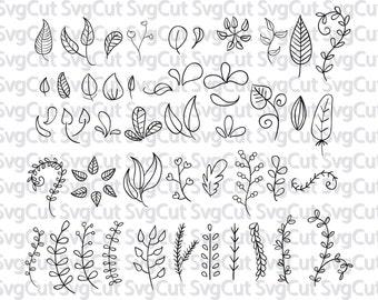 Leaf svg, Branches Cut file, Wedding Vector Clip Art,  DIY wedding invitation clipart, ornament svg files, Silhouette and Cricut files