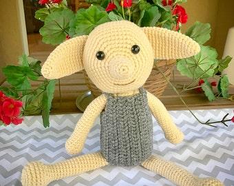 Dobby Amigurumi, Dobby crochet doll, crochet doll, harry potter, amigurumi, doll, gift, baby shower