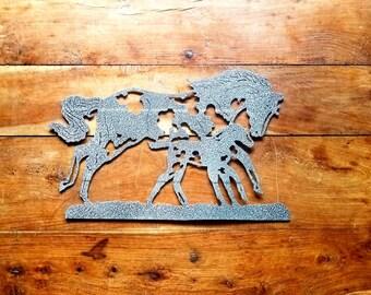 Galloping Horses Metal Wall Art, Handmade Metal Wall art