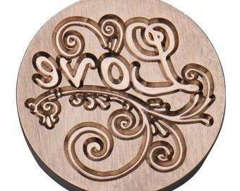 "Brass seal ""Love"""