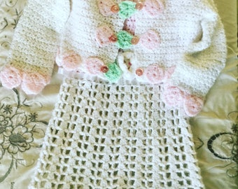 Vintage Crochet Sweater and Dress