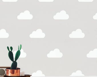 Nursery Wall Decals Cloud Stickers, Wall Stickers Wall Cloud Stickers, Vinyl Wall Decal Stickers Clouds, Kids Room Peel Stick,