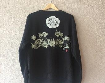 Sale!! Sale!! Sale!! Vintage Japanese Tiger Sukajan Sweatshirts Streetwear / Souvenir / Sweater / size XL