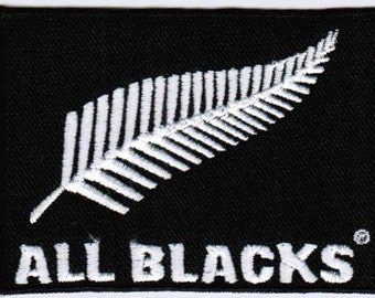 New Zealand National Rugby Union Team All Blacks Badge Iron On Embroidered Patch