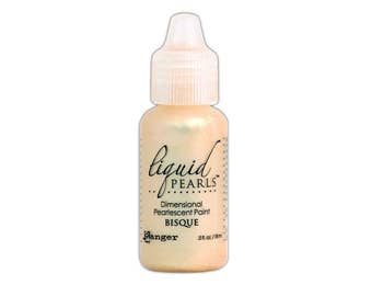 Ranger Bisque, Liquid Pearl, Dimensional Paint for Paper and Fabric, .5 oz