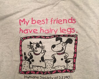 Vintage cats and dogs humane society t shirt 90s medium