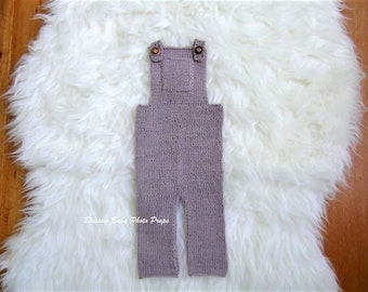 Newborn romper-overall-photography prop-baby outfit-knit boy romper-alpaca silk- Newborn outfit-boys photo prop-knitted baby wear