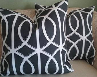 Charcoal gray pillow cover, gray, pillow cover, gray and white, black, decorative pillow, accent pillow, throw pillow, home decor