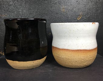 Simple Cups Set, 8 oz, Coffee or tea cups, Handmade Pottery