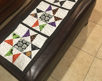 NEW Handmade Quilted Table Runner - Quilted with Witch Hats