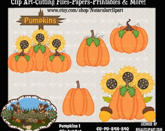 Commercial Use Pumpkin Clip Art - Scrapbooking Clip Art - Card Making Clip Art - Pumpkins Clip Art - Instant Download