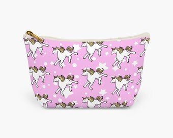 Unicorn Makeup Bag Pink | Wash bag | Cosmetic Bag | Pencil Case | Clutch Bag