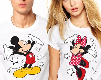Mickey and Minnie Couple shirts, Personalized Disney Couple Shirts, Matching Couple Disney Shirts, Couples Disney Shirts, Couples shirts