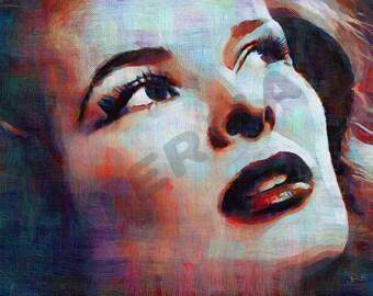 Katharine Hepburn Art Print - Oil Painting Poster  LFF0103