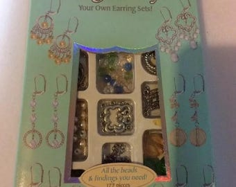 Jewelry kit earrings New! Horizon Make Your Own Earrings Kit 177 Pieces.