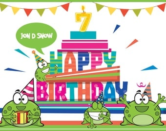 Cut the Rope Banner, Cut the Rope, Cute Banner, Party Decorations, Birthday Decorations, Birthday Decor, Birthday Banner, 10000138