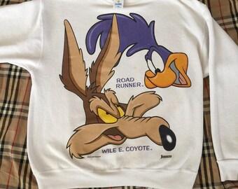 Vintage Looney Tunes Road Runner sweater Warner Bros