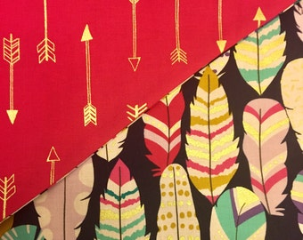 Feather and Arrows Double Sided Dog Bandana