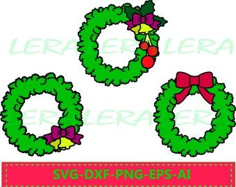 60 % OFF, Christmas Wreaths SVG, Instant Download Svg, Dxf, Ai, Eps, Png, Christmas Wreath SVG Cut File, Xmas Wreath Svg, Layered Cut File