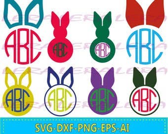 60 % OFF, Easter Bunny Ears SVG, Bunny Ears Svg Monogram Frames, Easter Cut Files svg, dxf, ai, eps, png, Rabbits Svg, Cut files for Cricut