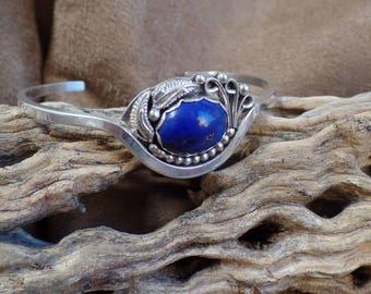 Charming Denim Lapis Bracelet 1296