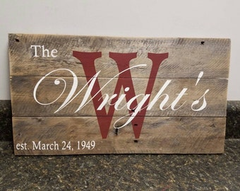 Personalized Pallet Sign, Wedding Gift Sign, Pallet Last Name Sign, Personalized Wood Sign, Rustic Sign, Family Name Sign, Custom Name Sign