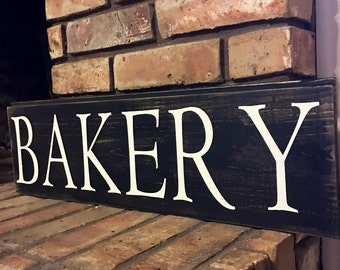 Bakery sign, Kitchen sign, farmhouse, fixer upper, shiplap, rustic kitchen decor, rustic home decor, shiplap sign, farmhouse kitchen sign