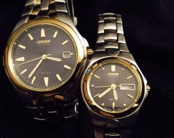 His and Her Citizen Eco-Drive Watches