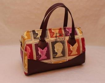 Large stamp handbag