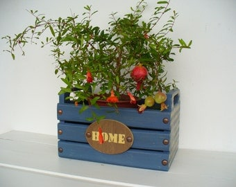 Wooden crates, wooden storage boxes , Home Decor,  Kitchen decor, Ornamental flowerpot small wooden crates