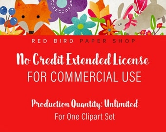 Extended License for Commercial Use of Any Clipart Set. Production Quantity: UNLIMITED. Commercial Use of Digital Graphics and Clip Art Sets