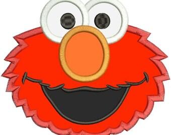 Elmo Applique Design 3 sizes instant download