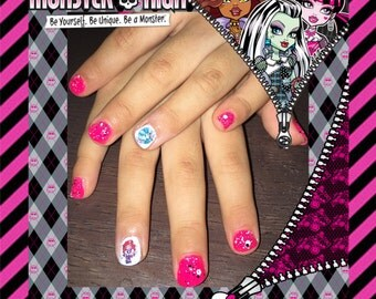 Monster High Kids Child Size Nail Art Decals