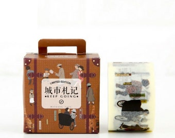 City Washi Tape Masking Tape Planner Stickers Scrapbooking Stickers