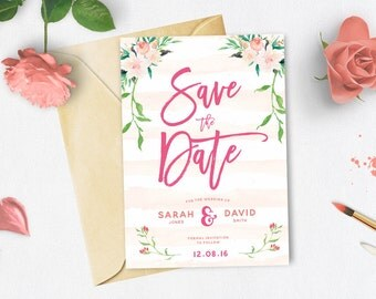 DIY Customisable and Printable Wedding Save The Date