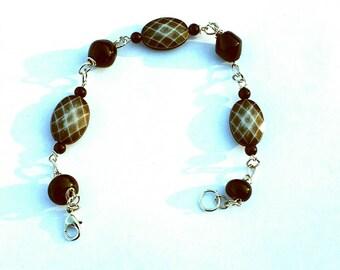 """Black """"Snakeskin"""" Chain Link Bracelet"""