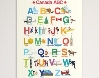 "Canada ABC 11""x14"" Print"