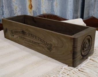 Vintage Style Wood Sewing Machine Drawer, Sewing Drawer, Wood Sewing Machine Drawer, Craft Storage, Wood Organizer