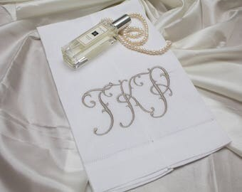 Embroidered Monogrammed Guest Hand Towels