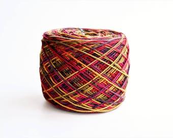 Gold Purple Pink Brown Sock Yarn Sweet Georgia Tough Love Sock Yarn**Tapestry CLEARANCE Pre-wound Cake